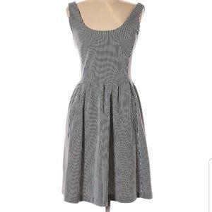 Banana Republic Navy Stripe Fit-n-flare Dress